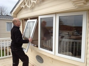 Double glazing for caravans and lodges