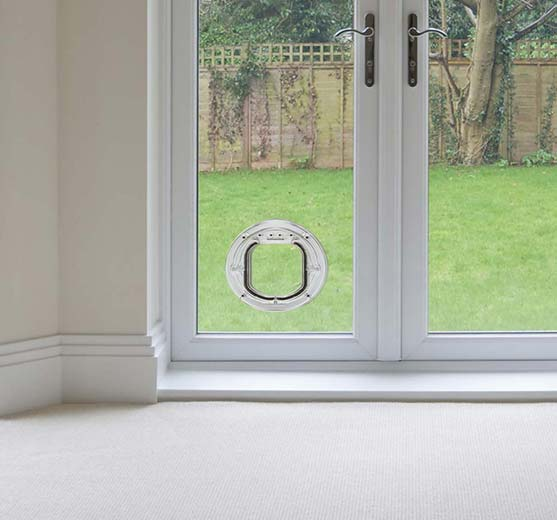 Dog & cat flaps for double glazing glass doors